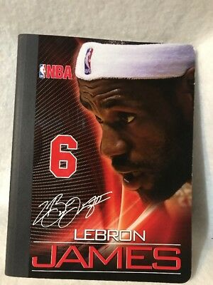 - official nba LebronJames Miami Heat composition notebook