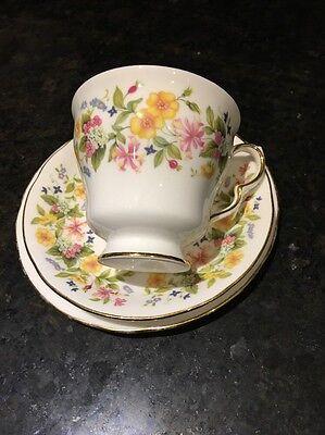 COLCLOUGH IVY HEDGEROW FINE BONE CHINA TRIO TEA CUP, SAUCER & SIDE PLATE
