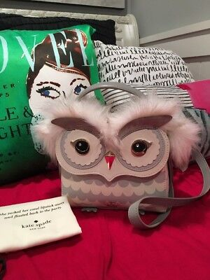 LAST ONE!!! KATE SPADE NY STARBRIGHT OWL LEATHER TOP HANDLE SATCHEL BAG, NWT!