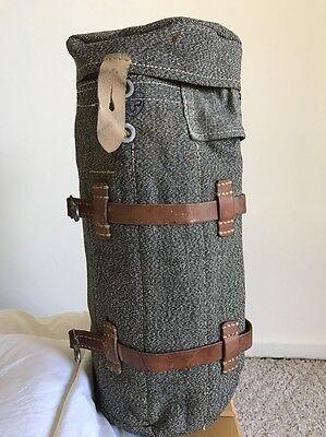 Vintage 1940s Salt & Pepper Accessory Tool Bag Satchel Tote Swiss Army