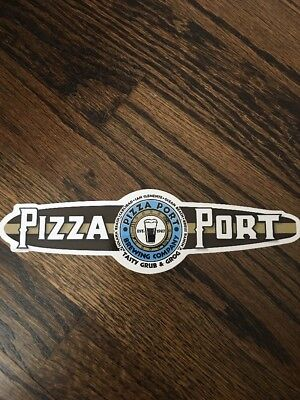 Beer Breweriana Sticker ~ PIZZA PORT Brewing Co ~ Southern CALIFORNIA Locations