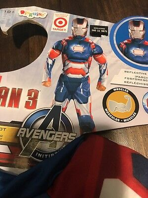 Avengers Iron Man 3 Iron Patriot Costume Boy L(10-12)
