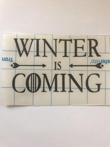 Game of Thrones Winter is Coming Decal Sticker Vinyl Car Tru