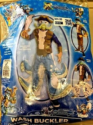 SKYLANDERS WASH BUCKLER pirate Halloween COSTUME CHILD SIZE LARGE 8/10 New $25