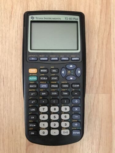 Texas Instruments TI-83 Plus Graphing Student Calculator *EUC*
