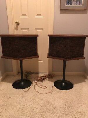 Vintage Original Bose 901 Speakers With Tulip Stands
