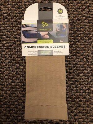 Travelon Unisex Leg Compression Sleeve Legwear/Sock Medium Nude New