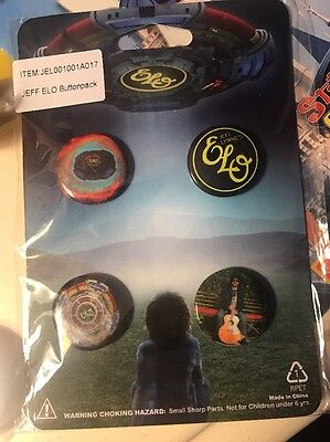 4 Electric Light Orchestra Promo Pins Badges ELO Jeff Lynne Sealed !! Rare !