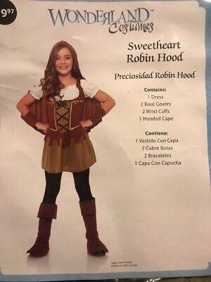 Sweetheart Robin Hood Girls Costume M (8-10) - Robin Hood Costume For Girls
