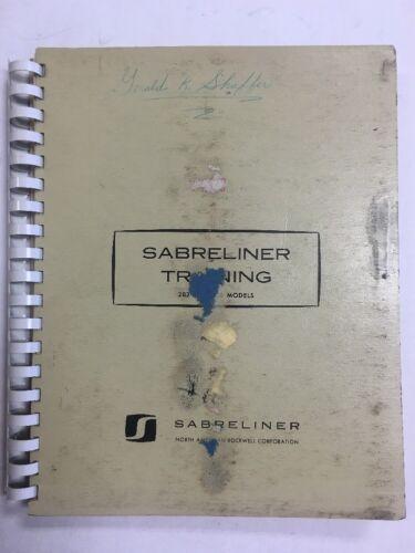 1964 Sabreliner 282.306 Models Original Training Manual