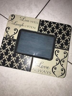 Live Well, Laugh Often, Love Always Photo Frame (Live Photo Frame)