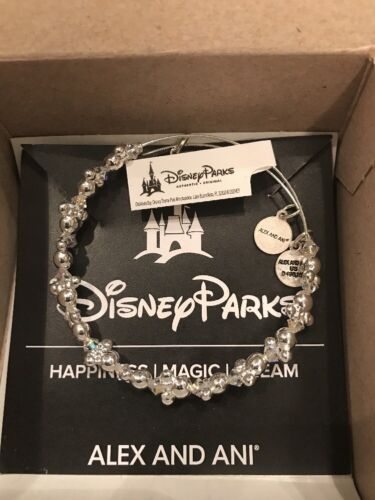 Disney Alex And Ani Minnie Ears Silver Bangle Bracelet NEW IN HAND