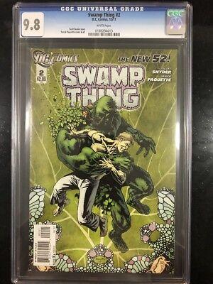 SWAMP THING # 2 / The new 52! / CGC Universal 9.8 / December 2011 / DC COMICS