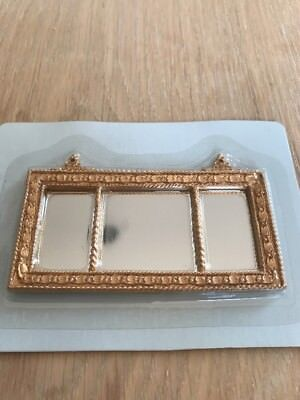 Dolls House Gold Long Wall Mirror