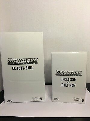 Dc Universe Classics Signature Collection   Elasti Girl And Uncle Sam Doll Man