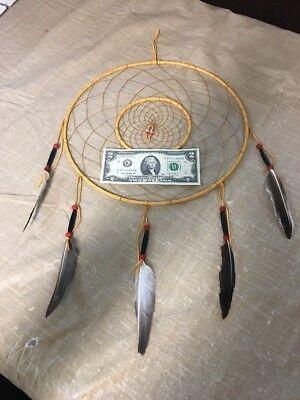 """Navajo Native American Dreamcatcher Huge 12"""" Diameter Ring Dream Catcher Wow #C"""