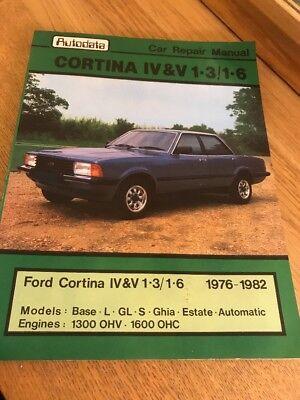FORD CORTINA MK'S IV & V USED AUTODATA WORKSHOP MANUAL 1976 - 1982 Ref 292
