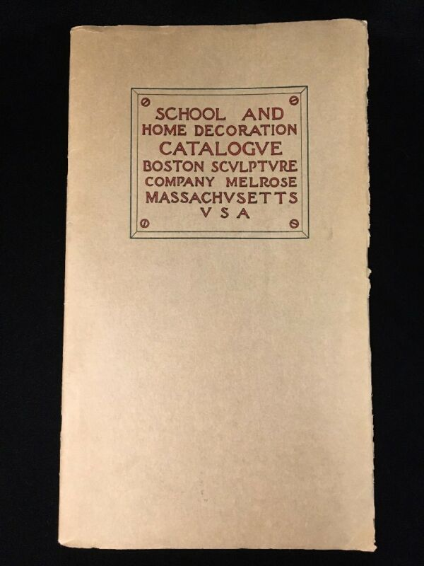 School Home Decoration Catalogue Boston Sculpture Company 1909 Decorative Art