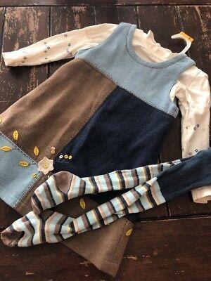 - Deux Par Deux Girls 4 Jumper Shirt Tights Lot