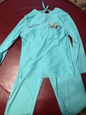 Kids Size Scrubs (DOCTOR OR NURSE EMERGENCY ROOM SCRUBS KIDS 2 PC POLY COSTUME SIZE )