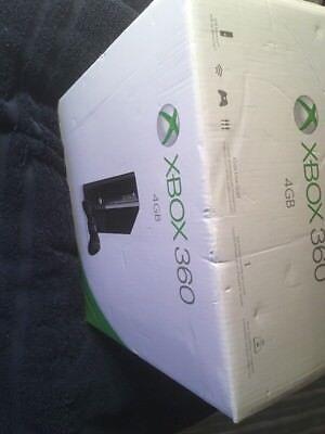 Microsoft Xbox 360 E 4 GB Black Mod 1538 Console New Factory Sealed WEAR BOX PIC