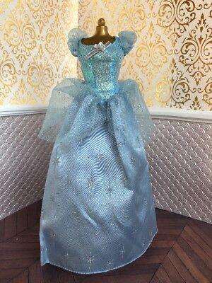 Cinderella Blue Silver Stars Ballgown Gown Dress Disney Princess Barbie Doll
