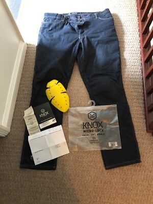 Knox Spectra Buxton Mens Motorbike Jeans With D3 Armour Included 40x33 BARGAIN!!