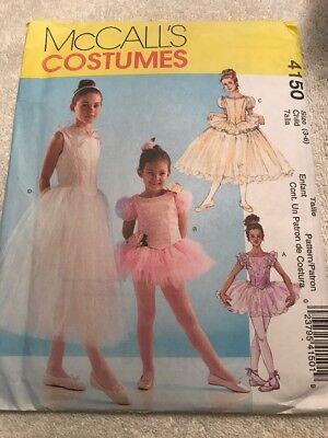 McCall's Costumes Pattern 4150 BALLERINA TUTU Dress Girls Size 3-6 Uncut