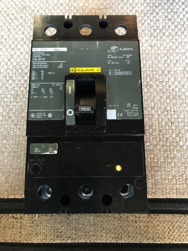 SQUARE D FAL36020  CIRCUIT BREAKER 20 AMPS 3 POLE VERY CLEAN