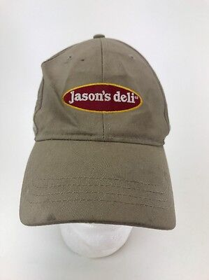 Jasons Deli  Hat Cap Employee Work Sewn Logo Adjustable Restaurant