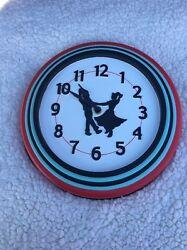Dancing Couple Wall Clock 50s Motif Ceramic Wall Clock