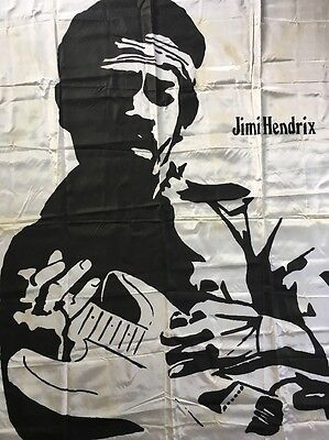 Vintage Poster Jimi Hendrix Tapestry Banner 1970's Are You Experienced Pin-Up