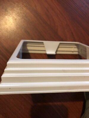 Vinyl 5-1/4 X 5-1/4 Post Base Deck , Railing , Column Trim Ring White Fibrex Vinyl Deck Railing