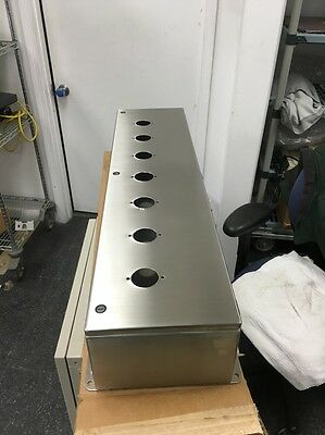 Hoffman Stainless Enclosure - Lhc239316ss W7 Pre-drilled Gauge Holes New