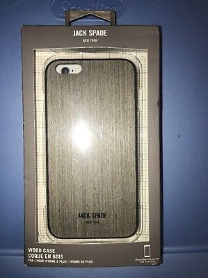 """Jack Spade NY Wood Case for iPhone 6Plus & 6sPlus 5.5"""" Wood Veneer Silver Oak"""