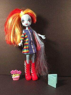 "Hasbro My Little Pony Doll Equestria Girl 9"" Rainbow 🌈 Striped Dress & Hair +"