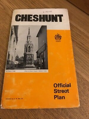 Vintage GW May Official Street Plan Of Cheshunt