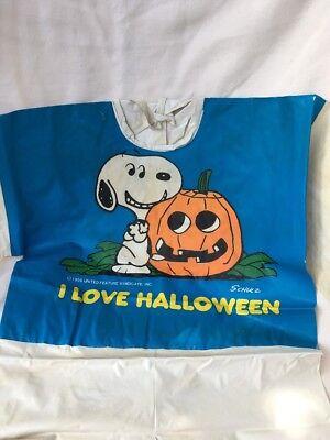 Snoopy I Love Halloween Vintage Costume Peanuts Jack O Lantern - Snoopy Halloween Costumes
