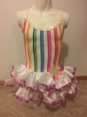 Leo's Dance Wear Dance/ Recital Girls Costume Dress W/tutu Girls Small