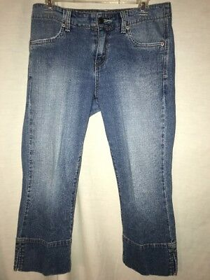 LEVI'S Jeans ~ Womens 515 LOW RISE CROPPED Denim CAPRI Pants Size 4 Womens Low Rise Cropped Pant