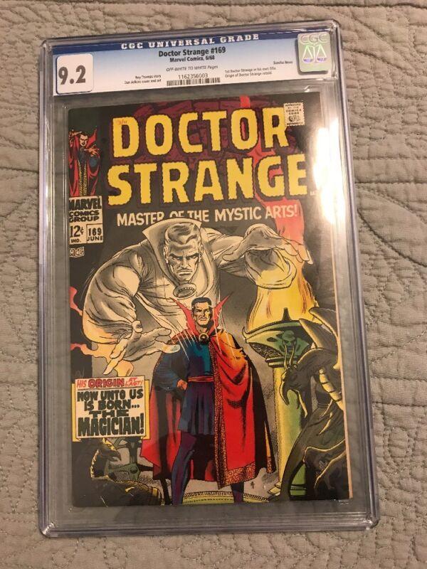 DOCTOR STRANGE #169 CGC 9.2 NM WP ORIGIN SUSCHA NEWS PEDIGREE~!