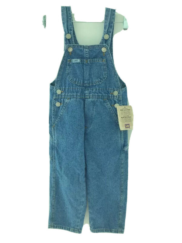 VINTAGE UNION MADE LEE denim overalls TAGS ATTACHED  RARE size 3T loose fit USA