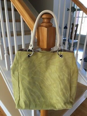 INNUE FUNKY GREEN SUEDE LEATHER SHOULDER BAG SNAP SIDES ITALY URBAN SUPER SOFT