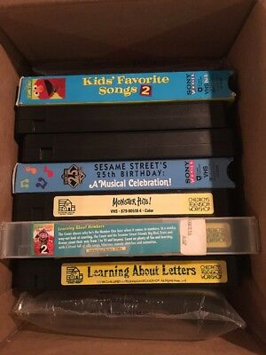 Sesame Street VHS Lot Of 7 Tapes Elmo Big Bird The Count Letters Numbers Songs