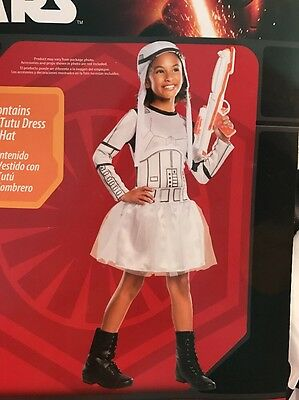 NEW! Star Wars Stormtrooper Girls Frilly    Costume  Medium 8-10 - Stormtrooper Costume For Girls