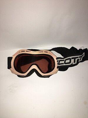 Scott Junior Skibrille Mädchen Rosa Schwarz mit Verstellen Elastisch Bänder