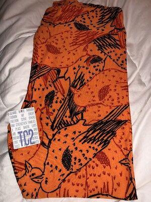 LulaRoe TC2 Raven Leggings - Black, Red And Orange Background - - Orange And Black Halloween Background