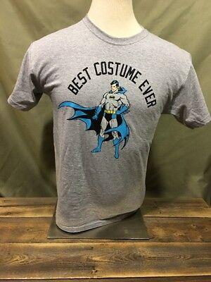 Batman Best Costume Ever Unisex T-shirt Justice League Gray Crew Neck Adult M
