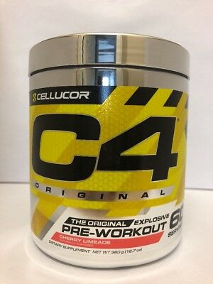 Cellucor C4 Original Pre-Workout iD Series 60 Servings CHERRY LIMEADE NEW