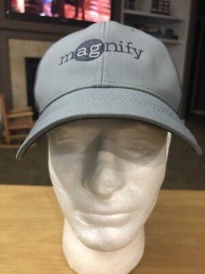 Magnify Nike Swoosh Golf Grey Baseball Cap Hat